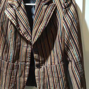 Retro Striped H&M Blazer